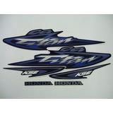 Kit Adesivos Faixas Honda Cg 125 Titan Kse 2003 - Azul