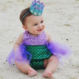 Traje De Baño Niña Sirenita Y Mimi Disfraz Para Bebé