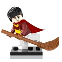 Boneco Lego Compativel Harry Potter Com Vassoura Quadribol