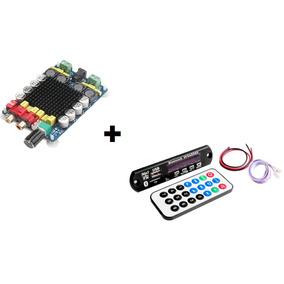 Placa Amplificador Digital 2.0 160w +decodificador Bluetooth