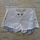 Shorts Seminovo Planet Girls Branco - Tam P