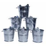 Macetas Baldecitos Balde Metal Zinc 5cm Pequeños 30u