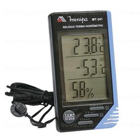 Relógio Termo-higrômetro Digital Mt-241 Minipa