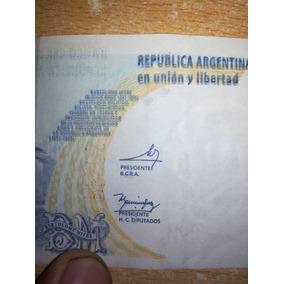Billete 2 Pesos Serie K Doble Golpe De Impresora
