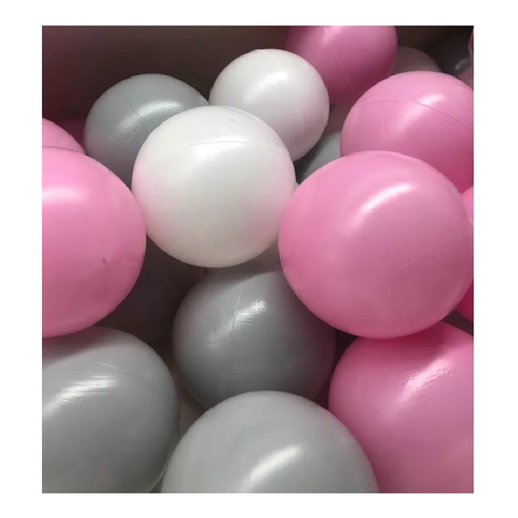 Bolson Bolsa De Pelotas Pelotero Bebe Rosa Blanca, Gris X100