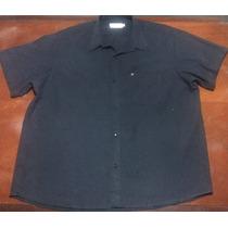 Camisa Perdomo Manga Corta Color Negro Talle 50