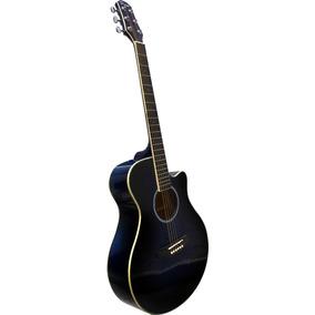 Guitarra Acustica Parquer Gac209 Azul Con Corte - La Roca -