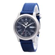 Reloj Seiko 5 Azul Correa Nylon Snk807k2