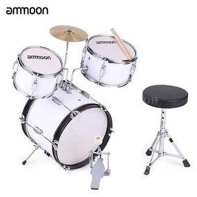 Nuevo Ammoon 3 Piezas Niños Junior Kit De Batería...