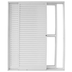 Porta De Correr Alumínio 3 Folhas 1 Fixa Vidro Liso A Fj