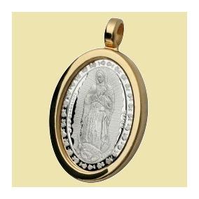 Medalla Virgen De Guadalupe Y San Judas Tadeo Plata Ley .999