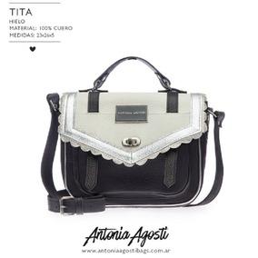 Cartera De Cuero Antonia Agosti- Modelo Tita!!