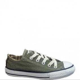 Tenis All Star Specialty Textile Ox Verde Infantil L13