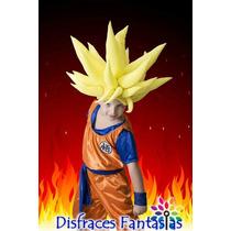 Disfraz De Goku Unico Con Peluca!!