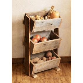 frutero de madera de pisorepisas para fruta