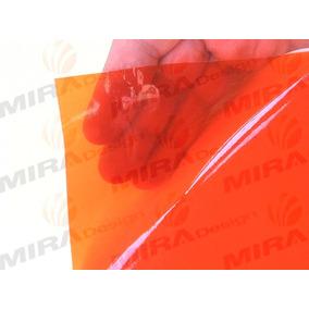 Adesivo Película Laranja Cristal P/ Seta Lanterna 20x25cm