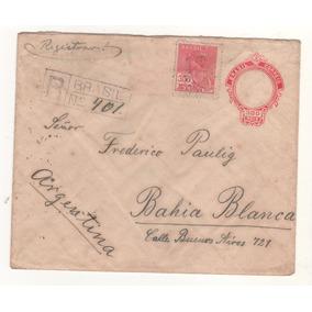 L586-brasil Carta Antigua Con Destino A Argentina Año 1929-