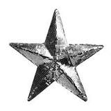Estrela Espelhada De 30 Cm Para Festas E Decorações