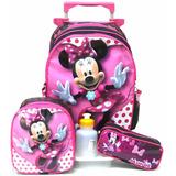 Kit Mochila Infantil Minnie Mouse Lisa Tam G Rodinhas Menina