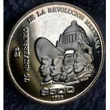 Moneda $500 Pesos 75 A Revolucion Mexicana 1985 Plata Proof