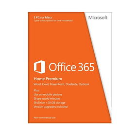Microsoft Office 365 Home Premium 5 Usuarios 1 Año