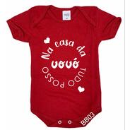Body De Bebê Infantil Tudo Posso Na Casa Da Vovó Bb03
