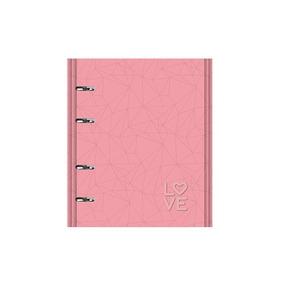 Caderno Ótima Pink Stone 177 Rosa Argolado 190fl 4501-2