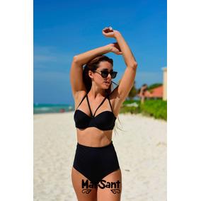 Bikinis Mallas Conjunto Pin Up Tiro Alto Mujer 2019- Soft