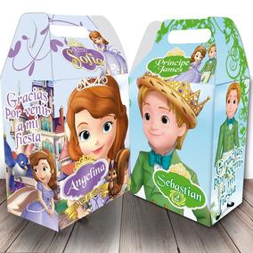Cajas Dulceros Personalizados Princesa Sofia - 6 Diseños!
