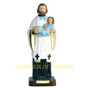 Imagem São Caetano Estatua 20cm Escultura Santo Gesso Oferta