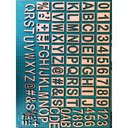 Estencil  Molde Em Mdf Para Pintura Letras  E Números 5 Cm