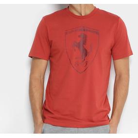 da1064859a8e8 Camiseta Scuderia Ferrari Puma Tee Big Shield Vermelha