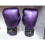 Guantes De Box Brillosos Purple Palomares Genuino  Fpx