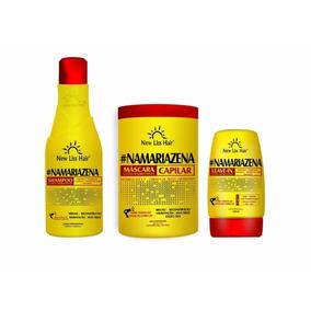 Kit Completo Maizena Capilar New Liss Hair 1kg +500ml+150ml