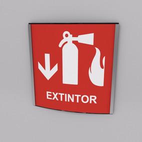 Señal De Extintor De Incendios Protección Civil 15 Cmx15 Cm