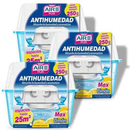 Antihumedad Perfumante Limon Aire Pur Max 25m3 Pack 3un