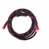 Cable Hdmi V. 1.3 De 2.5 Mt - Negro Con Rojo
