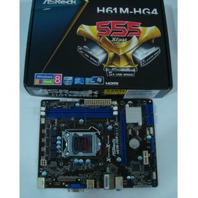 Placa Mãe Nova H61 Lga 1155 Asrock Modelo H61m-hg4 Com Hdmi