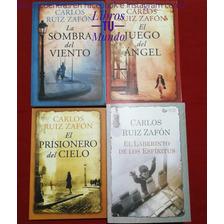 Saga La Sombra Del Viento Carlos Ruiz Zafón 4 Libros Nuevos