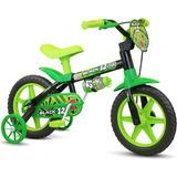 Bicicleta Nathor Aro 12 Black Infantil Masculino Vd-pt