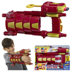 Marvel Civil War Nerf Iron Man Armadura De Brazo Slide Blast