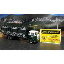 Miniatura Caminhão Fnm 9500 Escala 1/43 Carroceria Boiadeiro