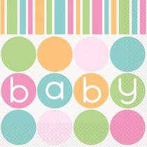 Pastel Baby Shower Plástico Mantel, Servilletas Para Almuerz