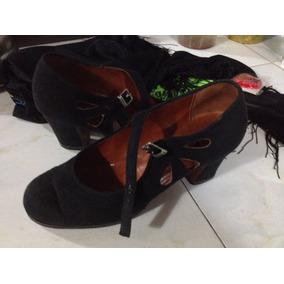Zapatos De Dama Tacón Flamenco Marca Triana Talla 38