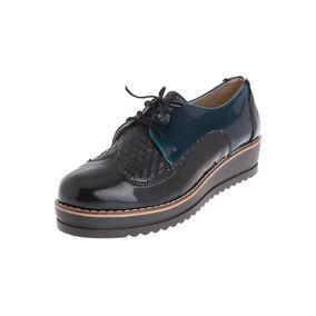 Zapatos Dama Tellenzi Canasta Negro*azul