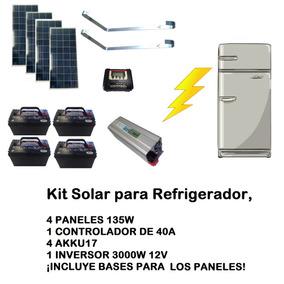 Kit Solar Para Refrigerador, Panel Solar , Celda Solar