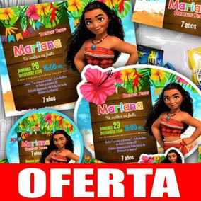 Kit Imprimible Moana Fiesta Invitaciones Etiquetas