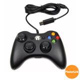 Controle Joystick Usb Com Fio Para Pc Estilo Xbox 360