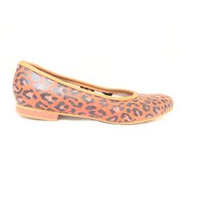 Zapato De Cuero Marcel Calzados (cod.13439) Rojo Leopardo.