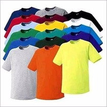Kit C/5 Camisetas Infantil Juvenil Básica Lisa Tradicional